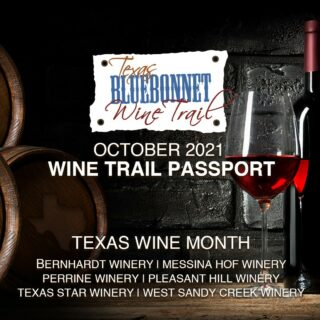 October is our favorite month because it's Texas Wine Month! 🍷🤠  Join us in celebrating with the October Wine Trail Passport event! We invite you to taste with us from October 1 – 31, 2021 in the picturesque Texas countryside while exploring your local wineries and discovering award-winning wine.  Savor all that Texas Wine Country has to offer this October, and join us at your own pace, during each wineries' regular tasting room hours!  Follow our Link in Bio for all the details and to purchase tickets.  @bernhardtwinery @messina_hof @perrinewinery @pleasanthillwinery @texasstarwinery @westsandycreekwinery @uncorktexaswines  . . . . . #texasbluebonnetwinetrail #texaswinetrail #uncorktexaswines #happyfall #fallwinetrail #octoberwinetrail #winetrail #texaswine #txwine #texaswinery #texasvineyard #texaswinecountry #texaswinetour #texaswinelover #uncorktexaswine #traveltexas #visittexas #texashighways #365hou #instawine #wine #winetime #collegestationtx #bryantx #plantersvilletx #montgomerytx #richardstx #brenhamtx #chappellhilltx #tourtexas