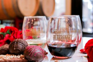 Chocolate + Wine 🍫🍷The perfect Valentine's pairing! Experience pairings from eight Texas wineries along the Wine & Chocolate trail the first two weekends in February. . . . Follow our bio link for more details and to purchase tickets!  @bernhardtwinery @messina_hof @peach_creek_winery @perrinewinery @pleasanthillwinery @saddlehornwinery @texasstarwinery @westsandycreekwinery . . . . #winepairing #wineandchocolate #wineandchocolatetrail #valentinesdaywine #instawine #texaswine #txwine #texaswinery #texasvineyard #texaswinecountry #texaswinetour #texaswinelover #uncorktexaswine #traveltexas #visittexas #texashighways #winetrail #texaswinetrail #texasbluebonnetwinetrail