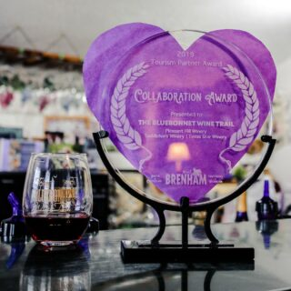 Congratulations to @pleasanthillwinery @saddlehornwinery and @texasstarwinery on the @visitbrenham Tourism Partner Collaboration Award representing the Texas Bluebonnet Wine Trail!🍷🤝 . . . . #supportlocal #drinklocal #collaboration #texaswinetrail #texasbluebonnetwinetrail #visitbrenham #visitbrenhamtexas #instawine #texaswine #txwine #texaswineries  #texasvineyard#texaswinecountry#texaswinetour#texaswinelover#uncorktexaswine#traveltexas#visittexas#texashighways#365hou